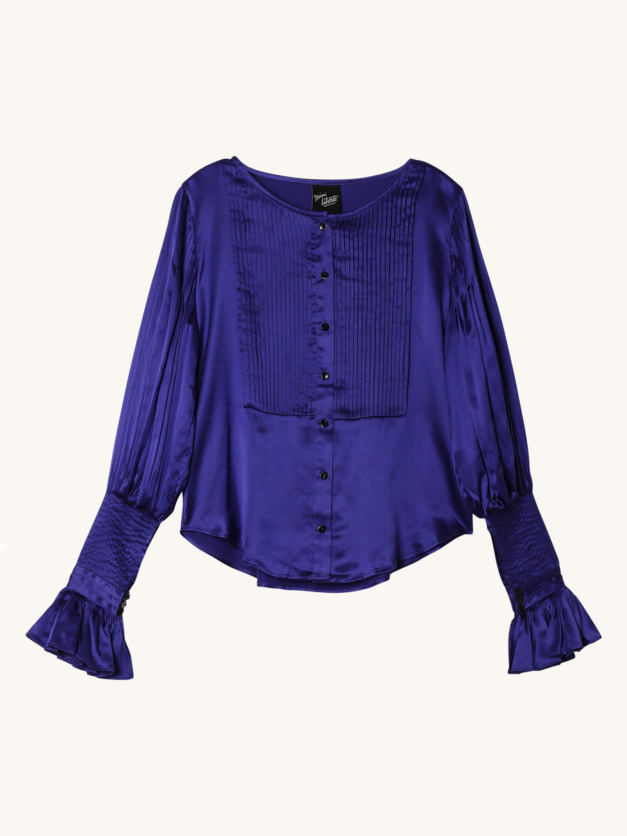 Carmen Blouse in Cobalt