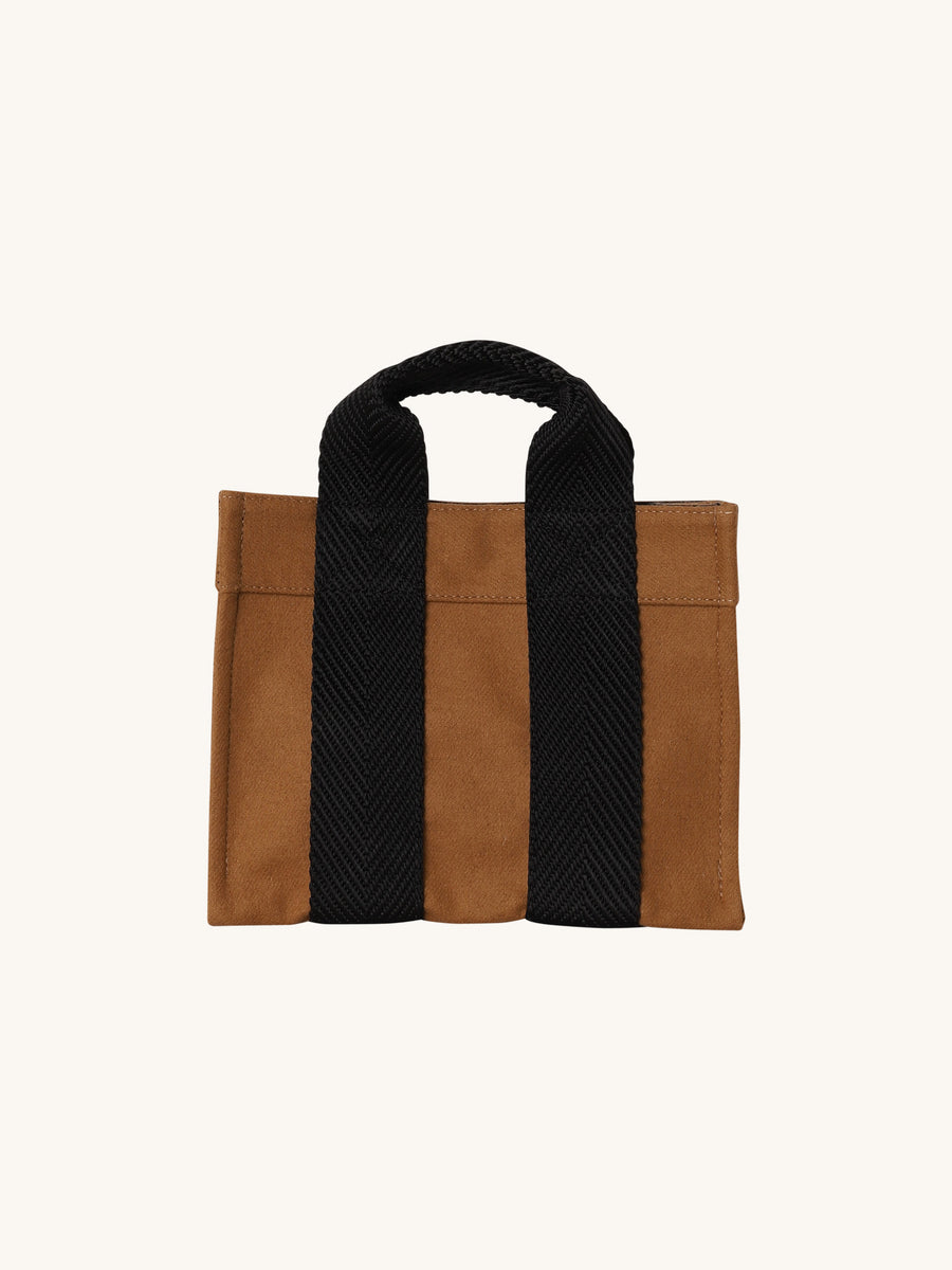 Baby Tote in Flannel & Camel