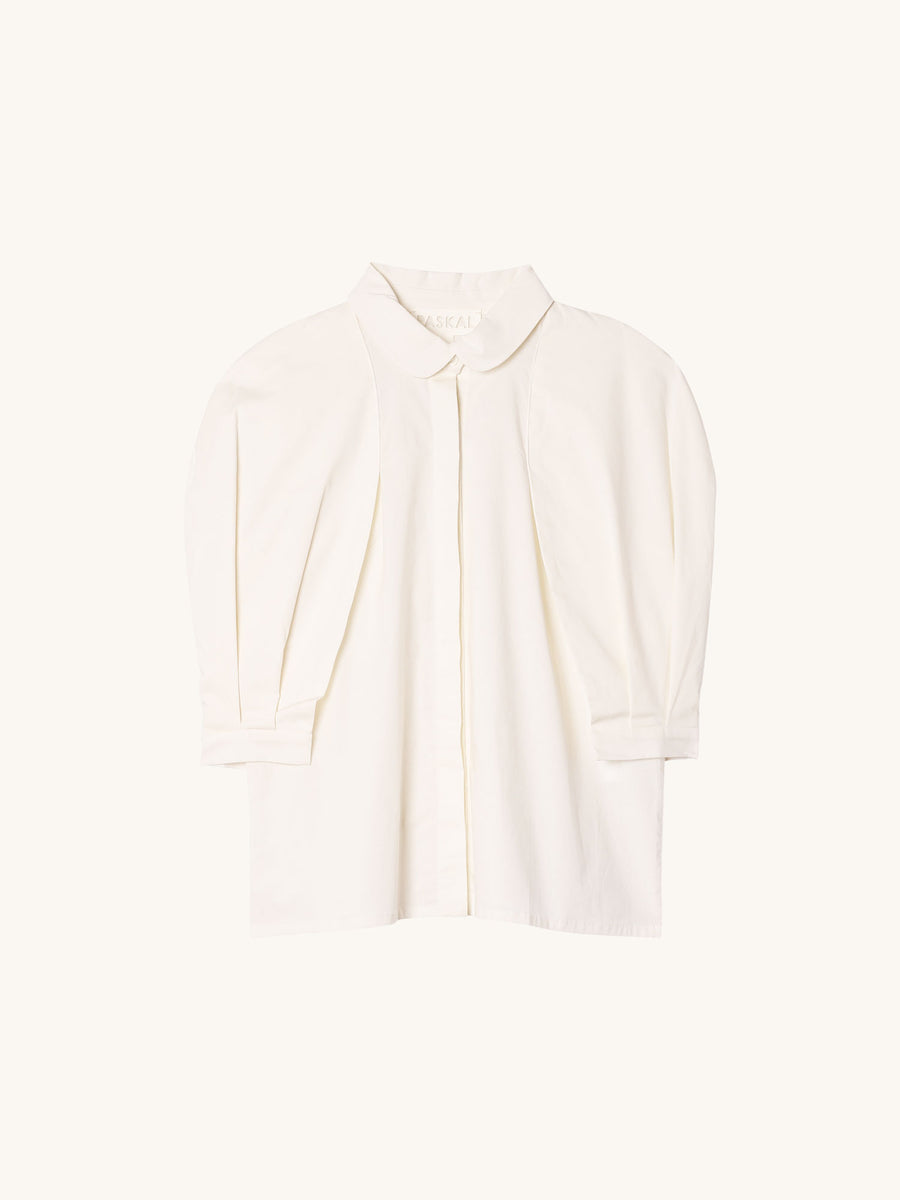 White Shirt with Decorative Sleeves