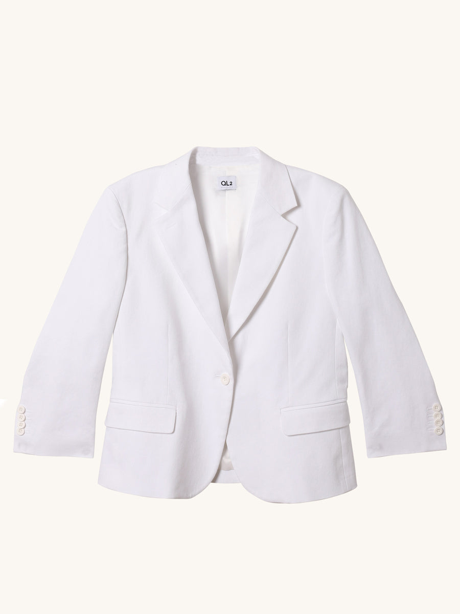 Beata Blazer in White
