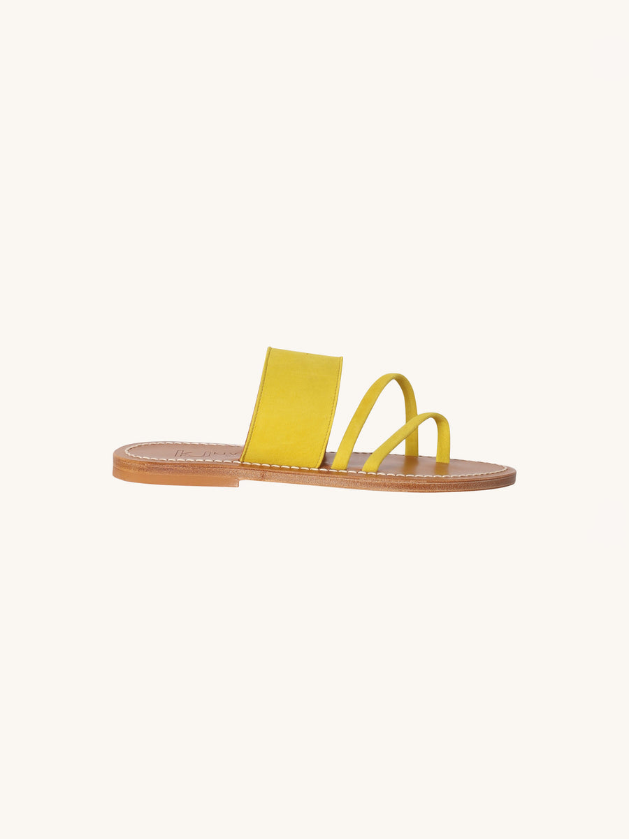 Messange Sandal in Neon Yellow