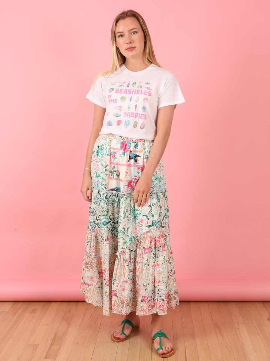 Multi Print Long Skirt