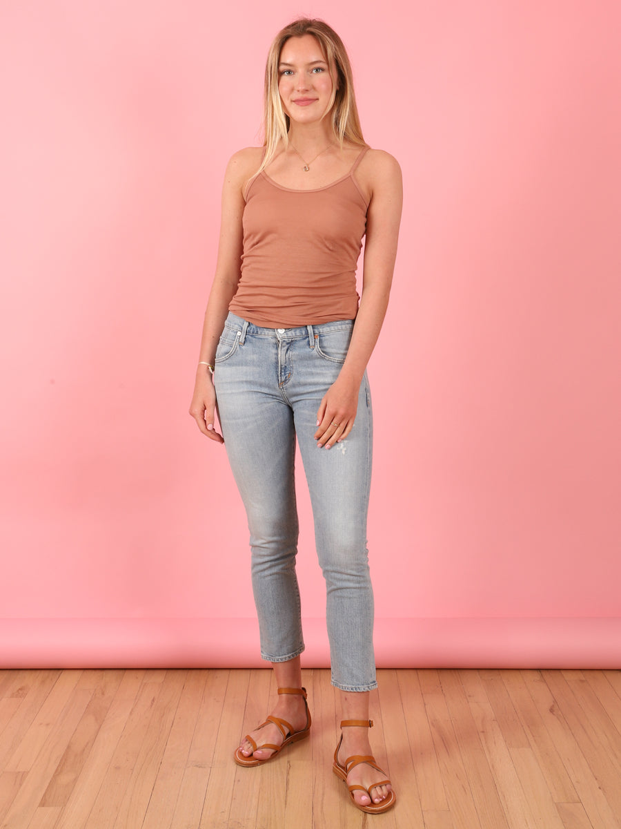 Elsa Mid Rise Slim Crop Flare in Try Me