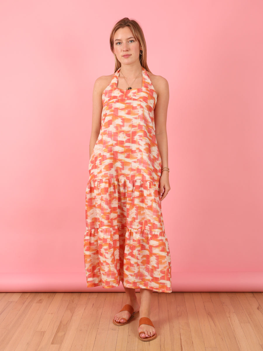 Ofelia Ikat Print Dress