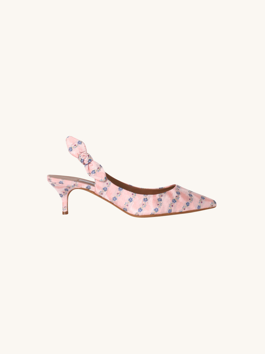 Rise Kitten Heel in Pink Stripe