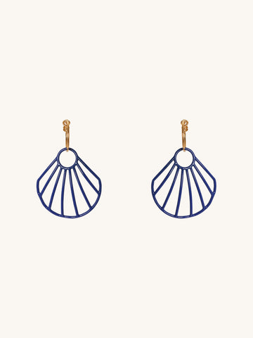 Blue Small Shell Hoop