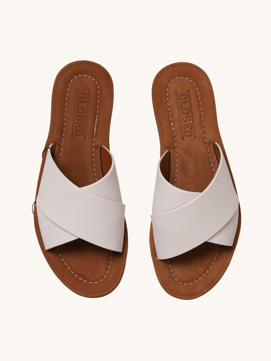 Slipper Sandal in White
