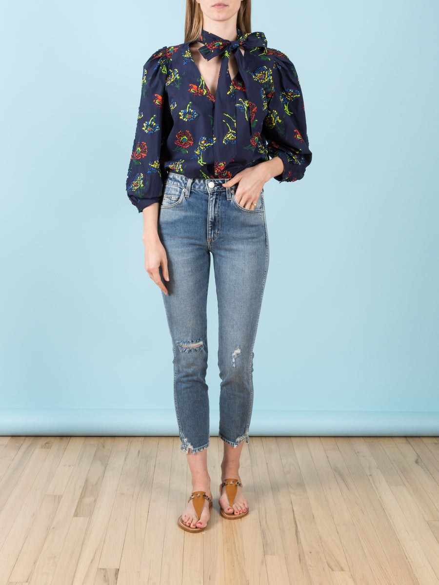 Julie Blouse in Midnight Floral