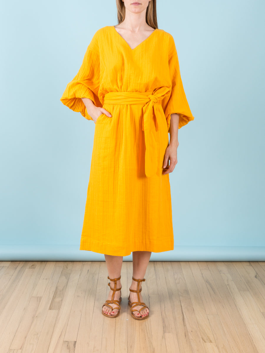 Delilah Dress in Saffron
