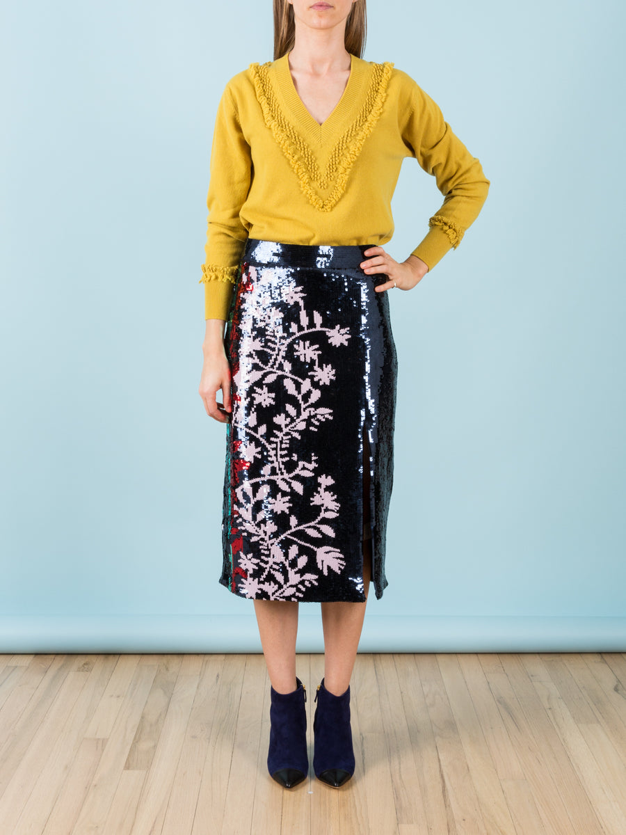 Elisa Skirt in Sequin Vines