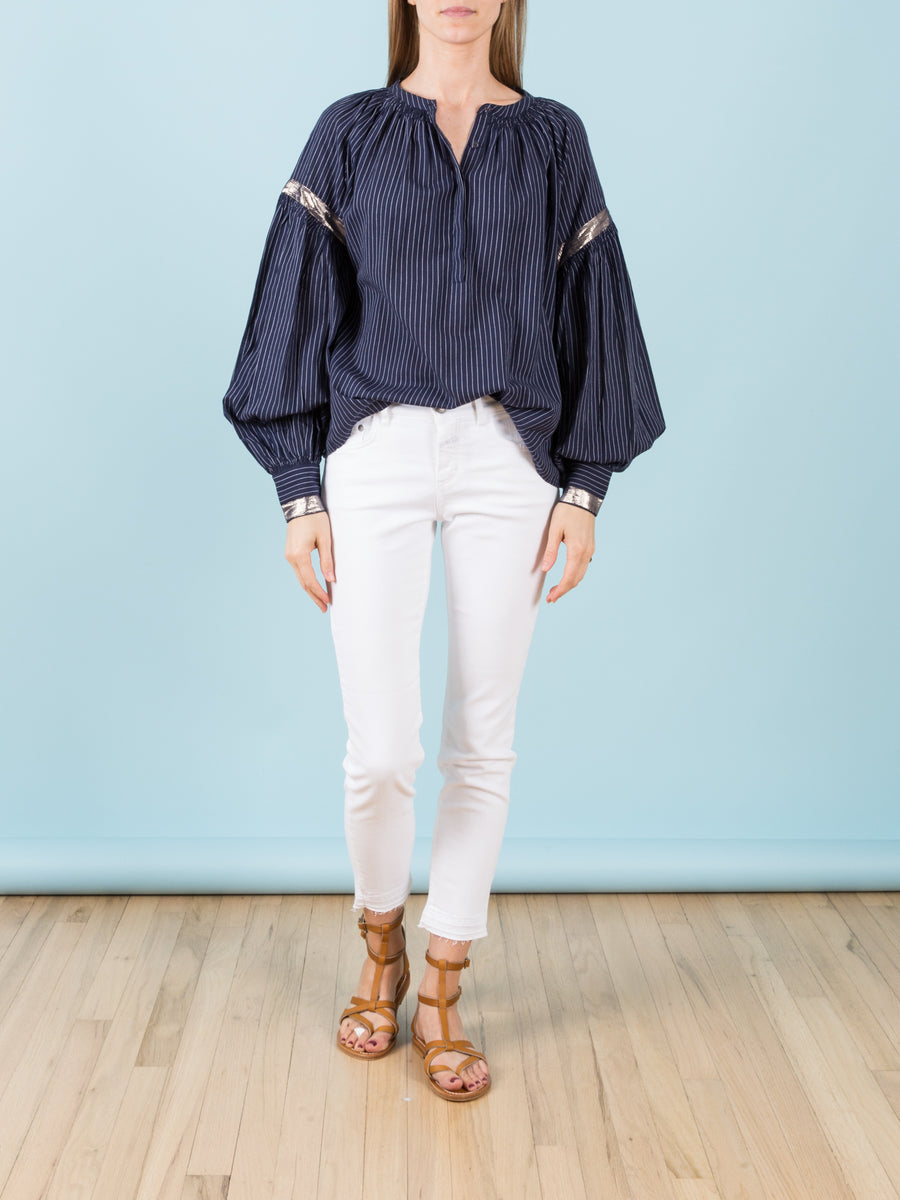 Kora Blouse in Midnight