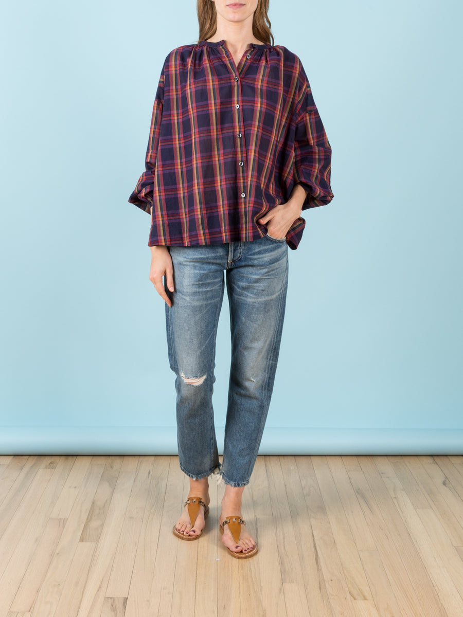 The Melody Shirt in Candy Plaid