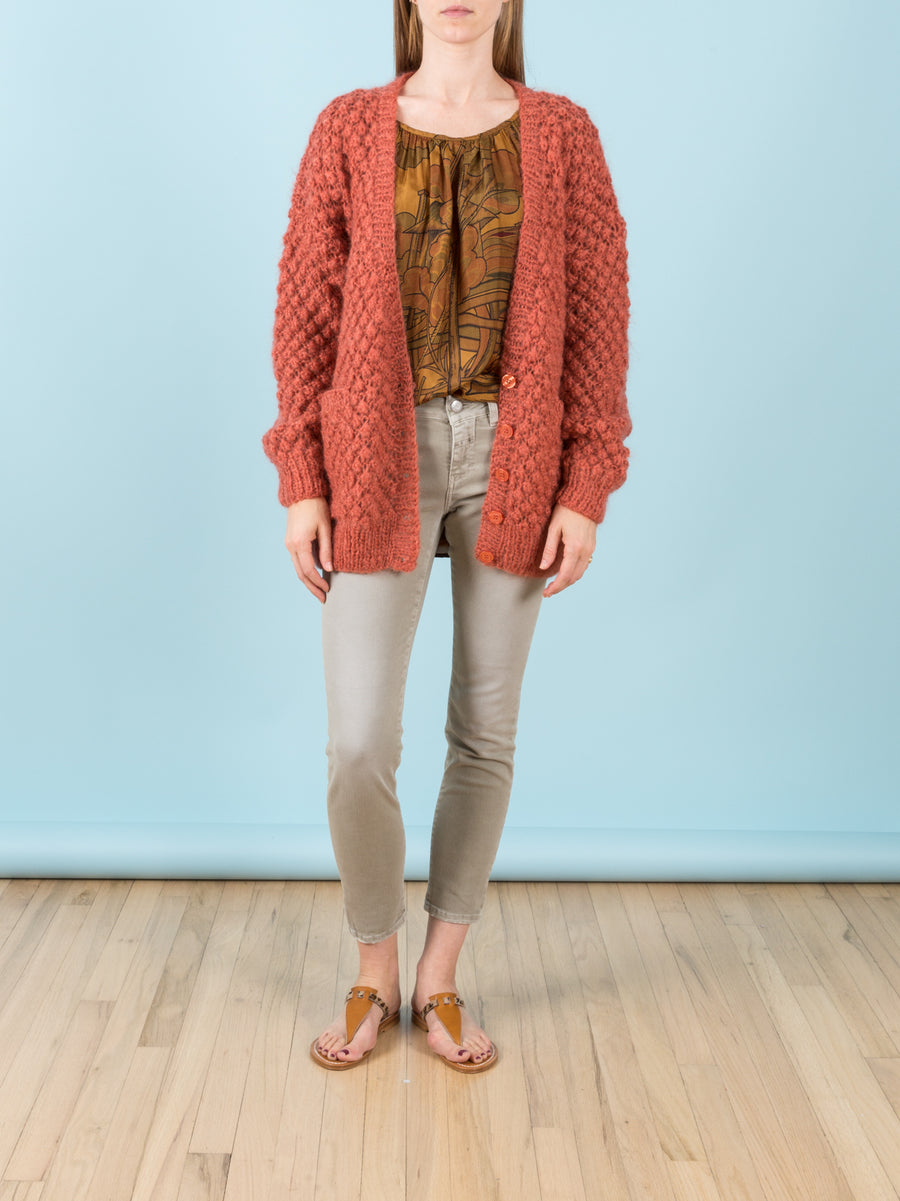 Snow White Cardigan in Terracotta