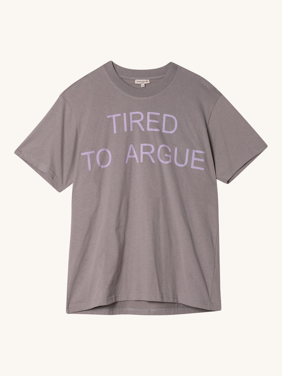 Tried To Argue Tee in Grey