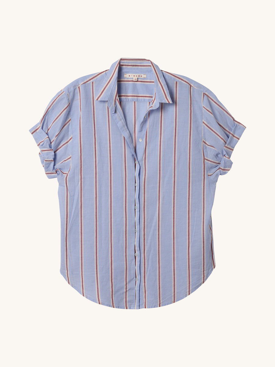 Stripe Channing Shirt in Blue