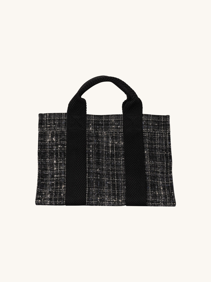 Baby Tote in Grey Tweed