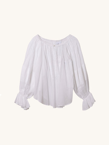 Airy White Cotton Blouse