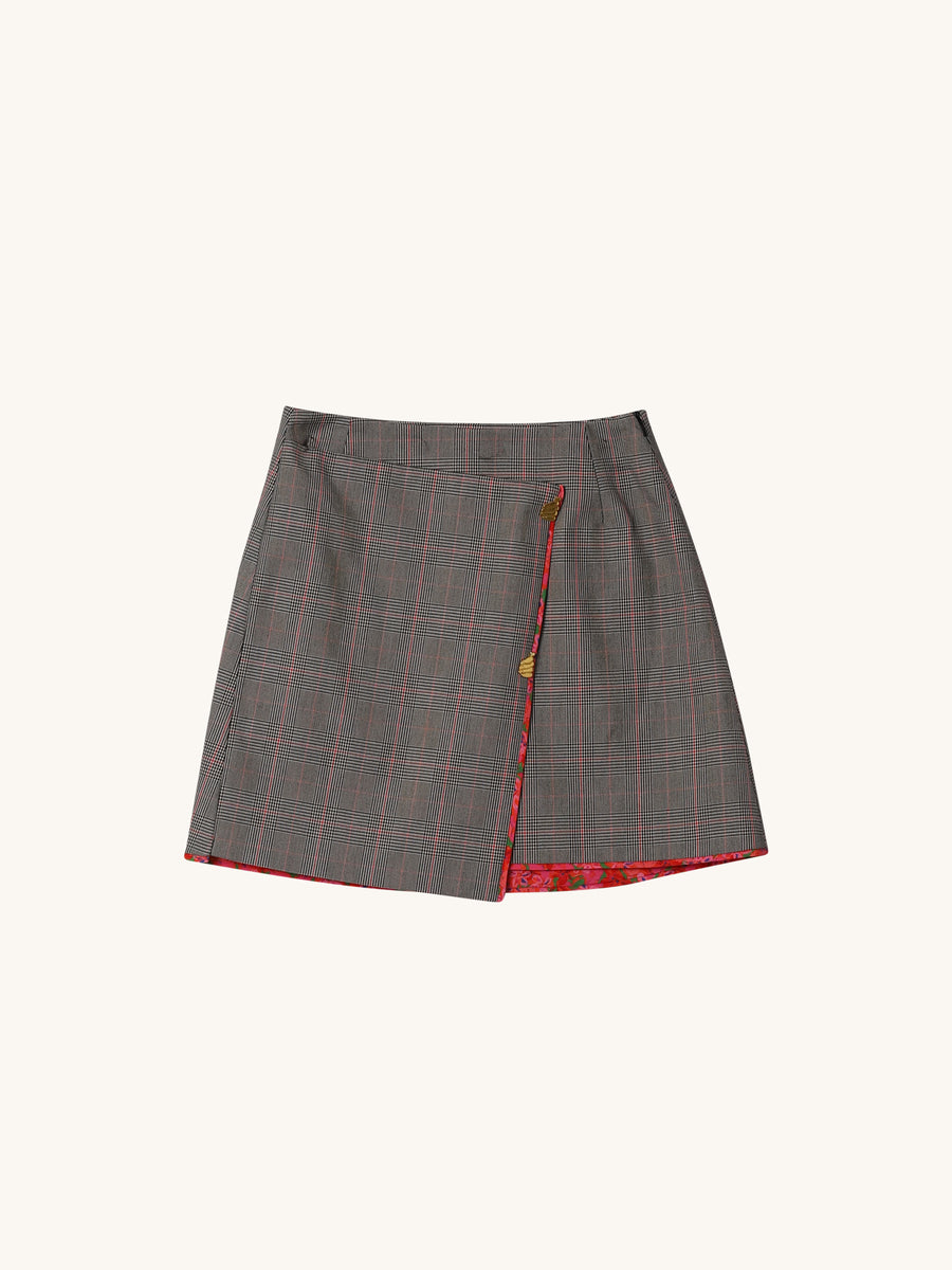 Stephanie Skirt in Glen Check