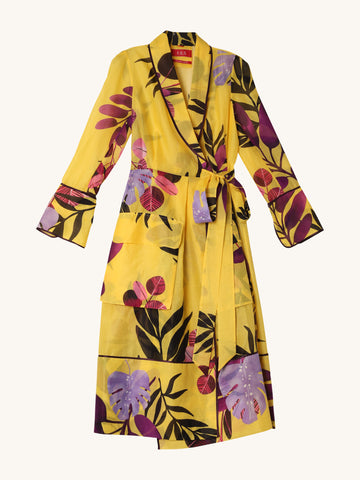 Midi Robe in Yellow