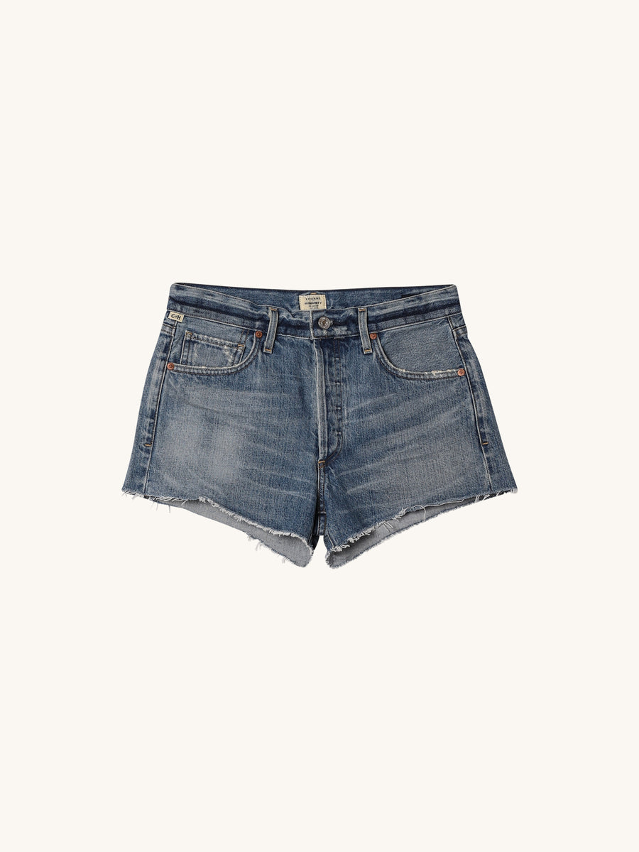 Bree Relaxed Short in Indigo