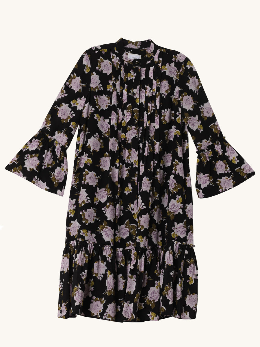 Printed 3/4 Sleeve Dress