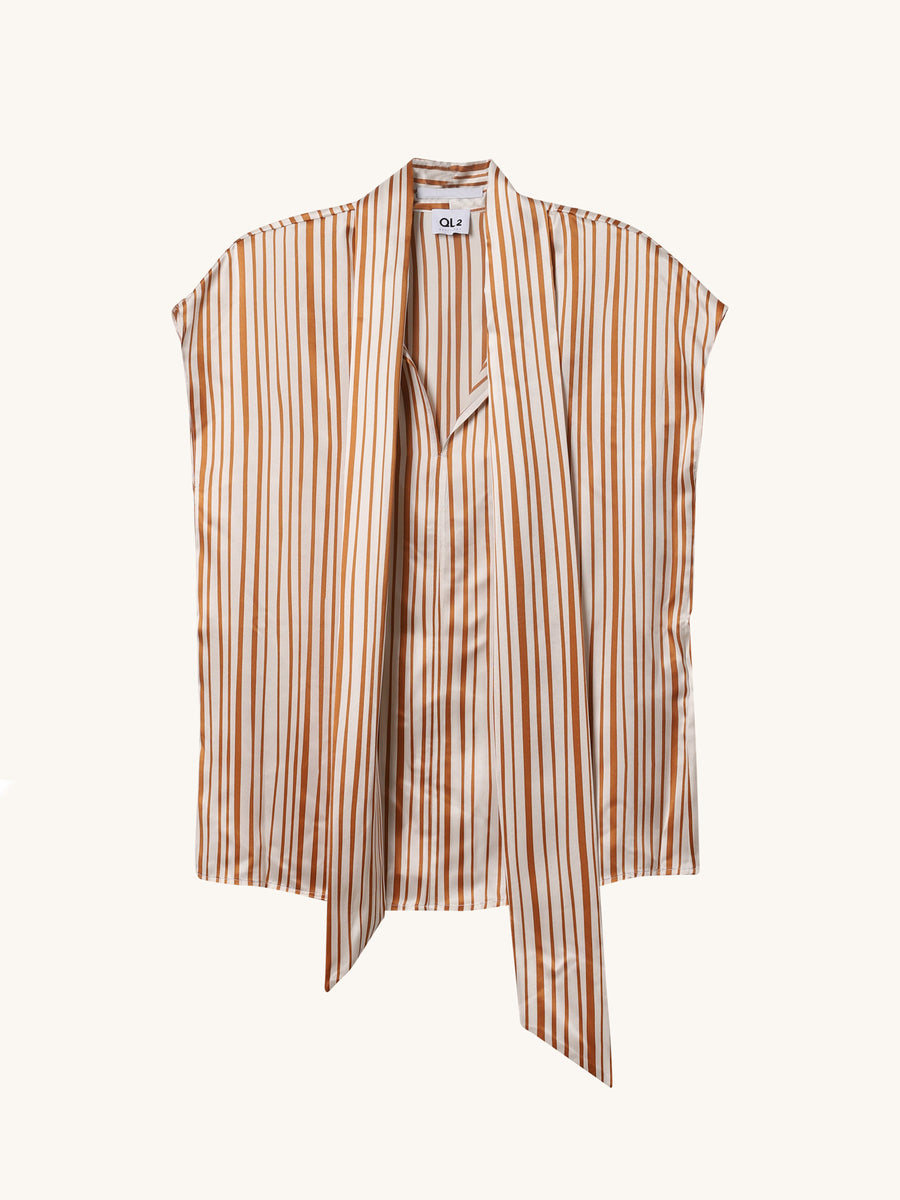 Irene Stripe Top in Cherrywood
