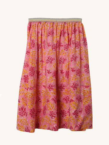 Gold Floral Kloe Skirt