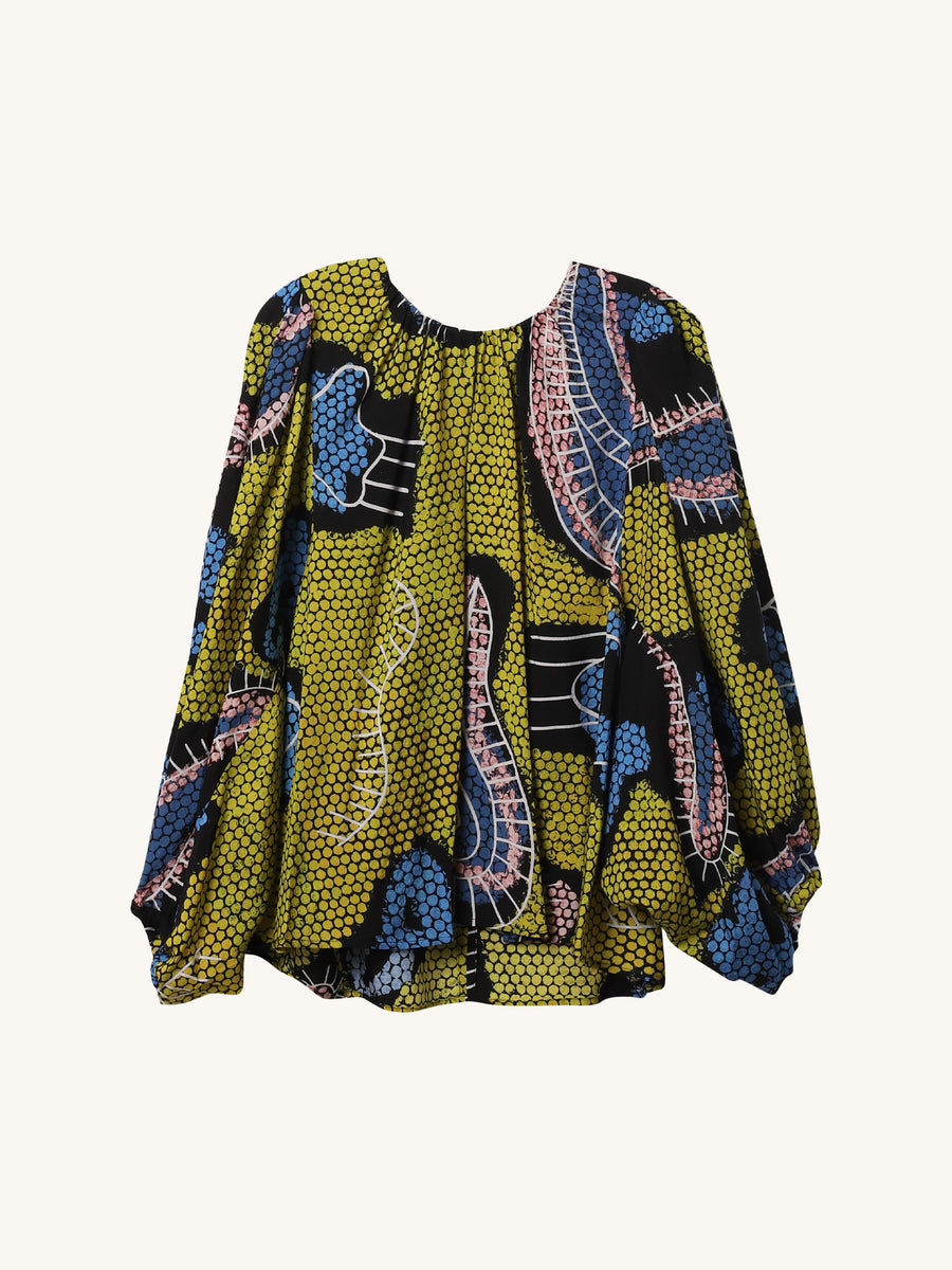 Tawil Top in Yellow Paisley