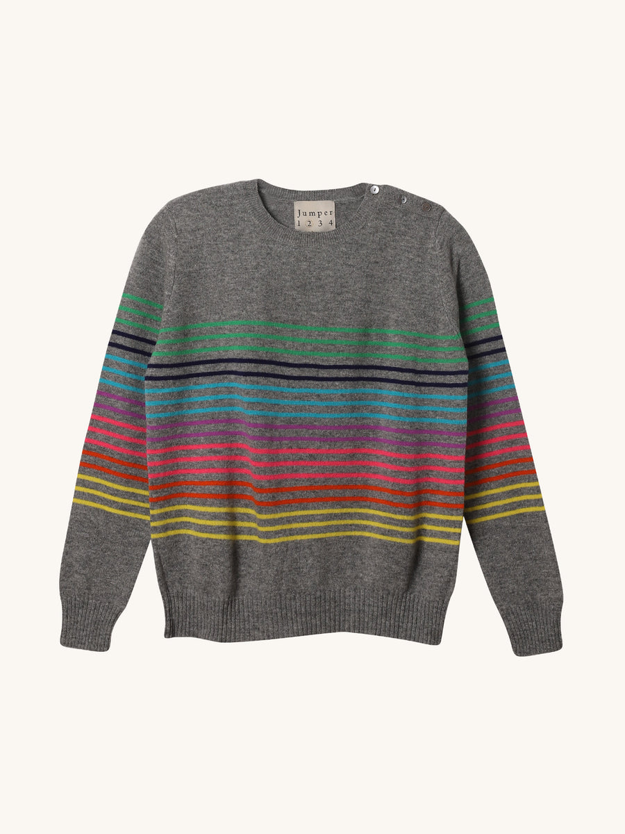 Multi Button Crew Sweater