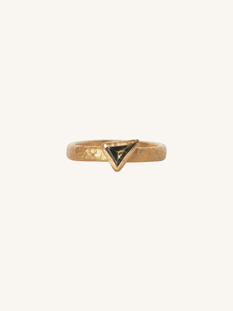 Triangle Sapphire Stack Ring