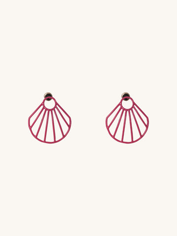 Pink Small Clam Earrings
