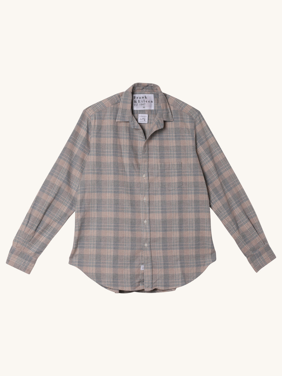 Eileen Flannel Shirt in Taupe Plaid