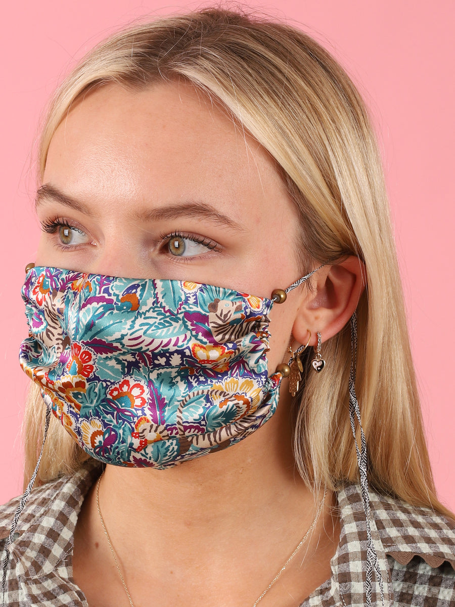 Silk Printed Over The Ear Mask