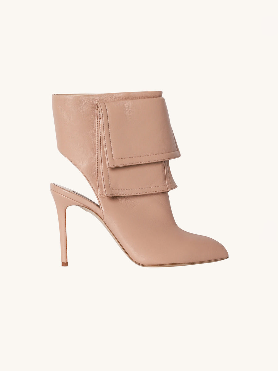 Ankle Hi-Boot in Beige