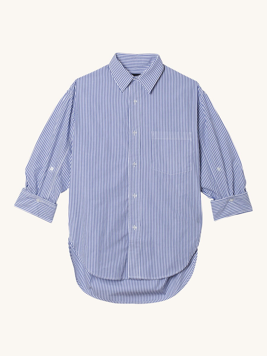 Kayla Shirt in Blue & White Stripe