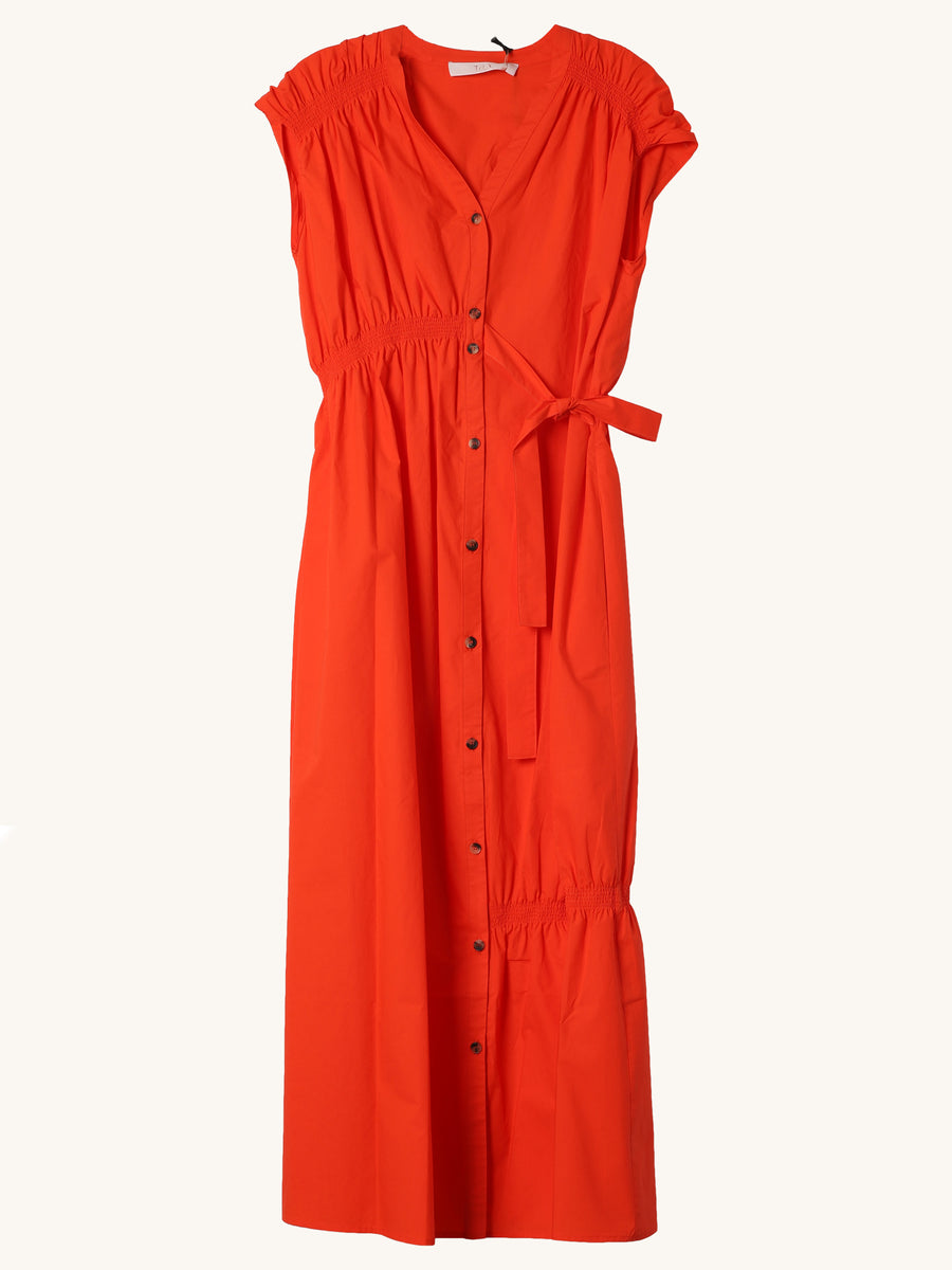 Midi Cabana Dress in Red