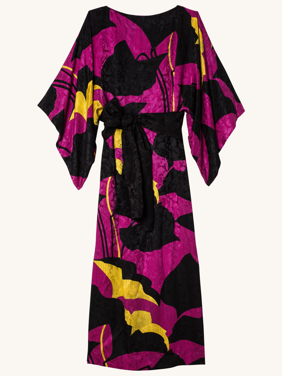 Samurai Printed Dress in Orchid