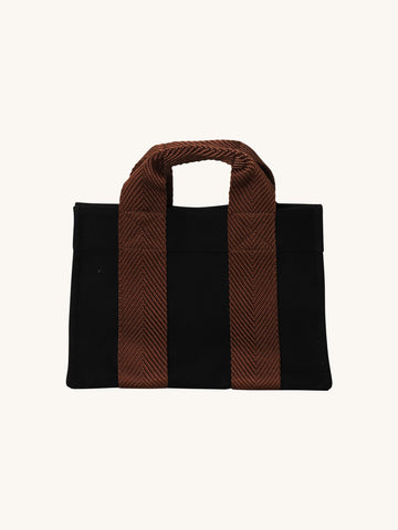 Lady Tote in Black Flannel