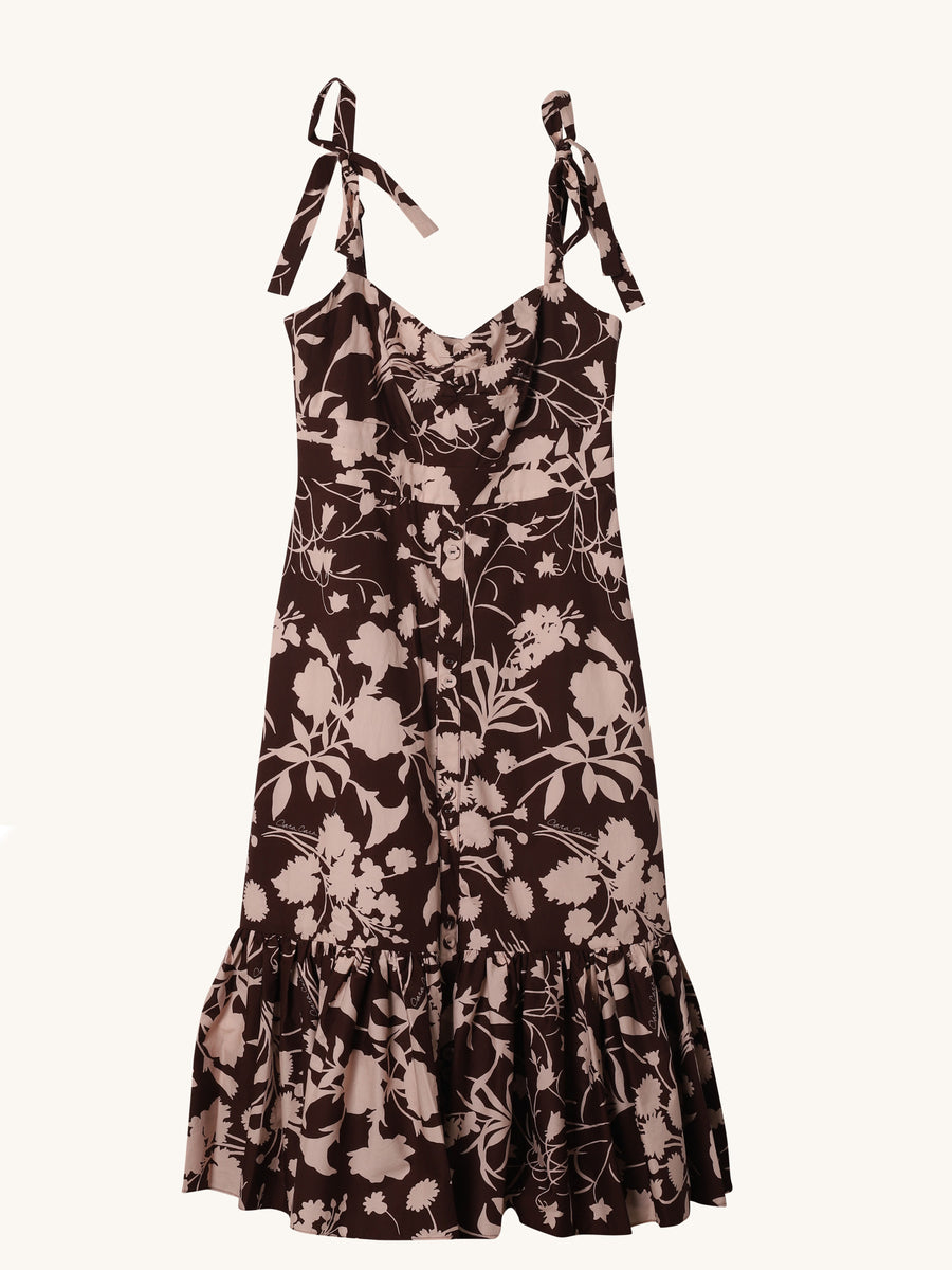 Belvedere Dress in Brown