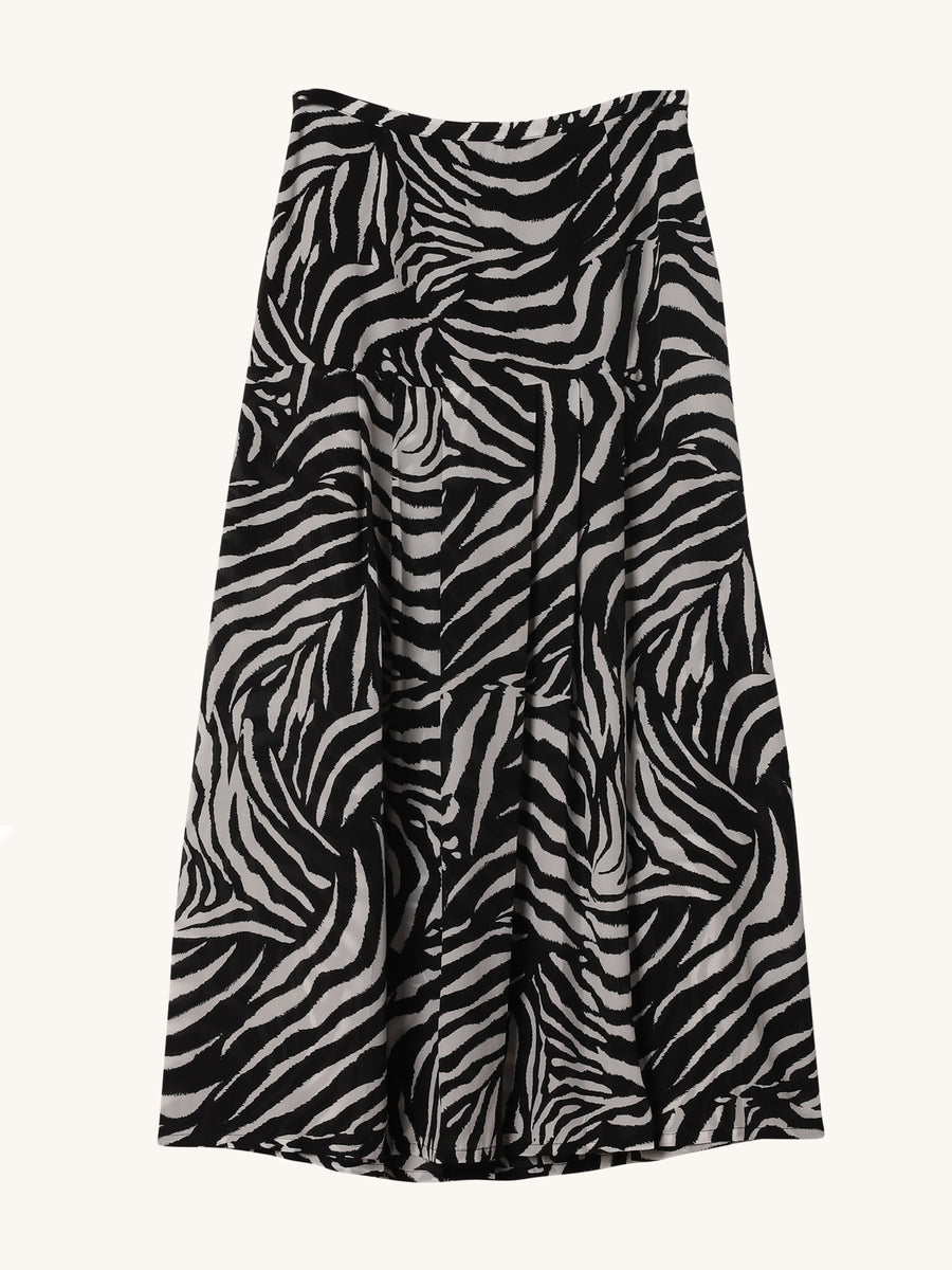 Zebra Print Nancy Skirt