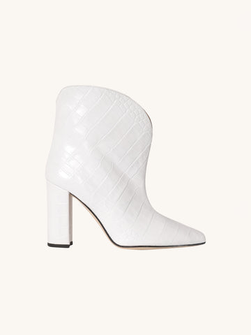 White Croc Ankle Boot