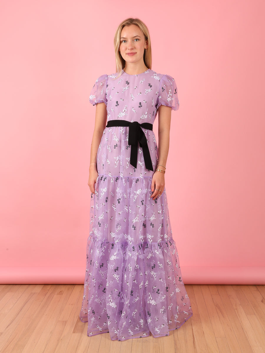 Lilac Short Sleeve Gown