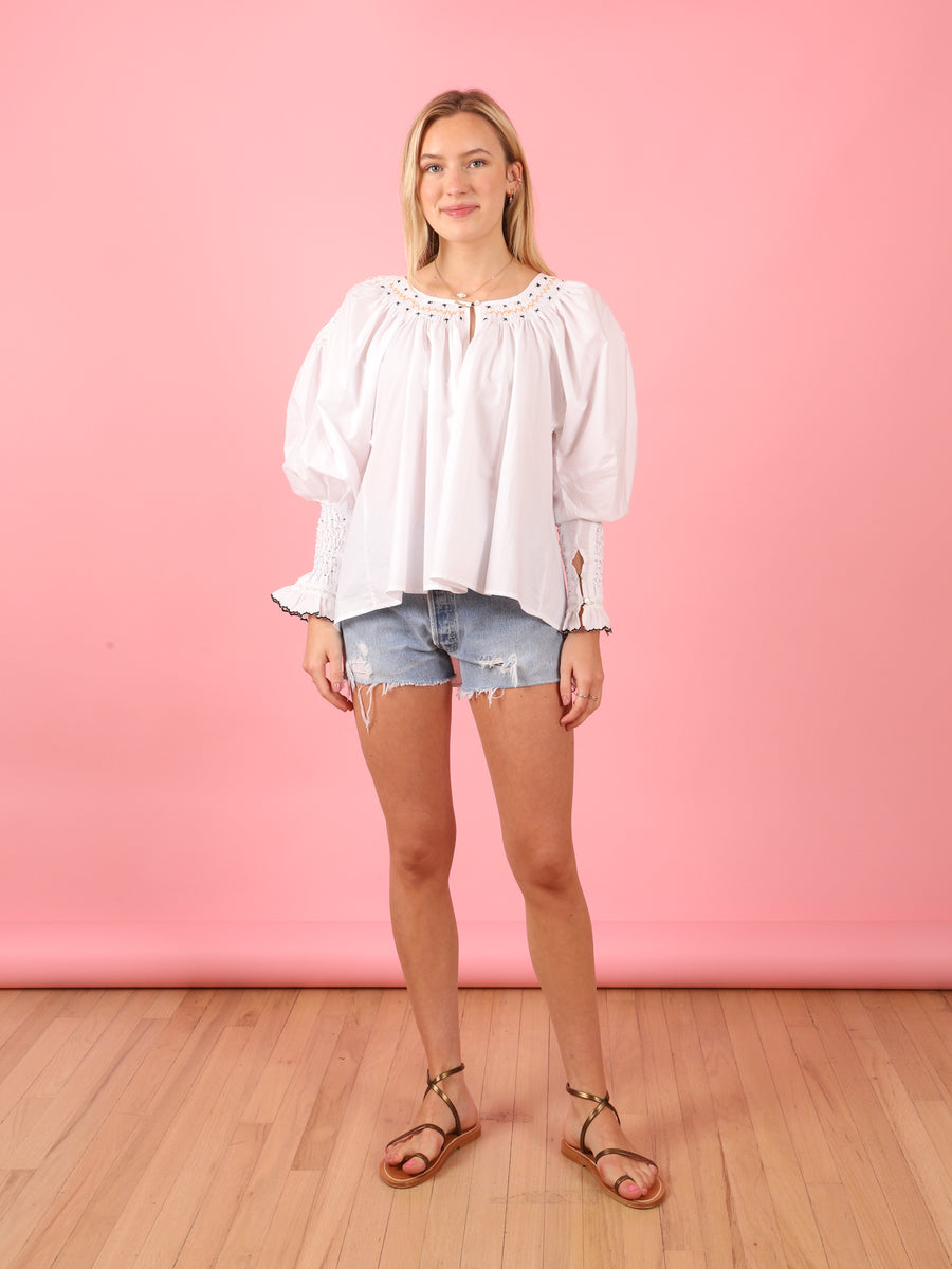 Valeska Blouse in Off White