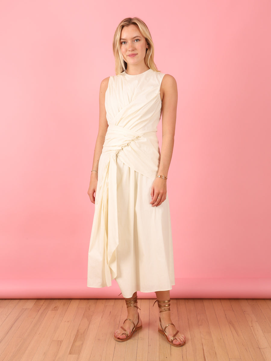 Davu Dress in Off White