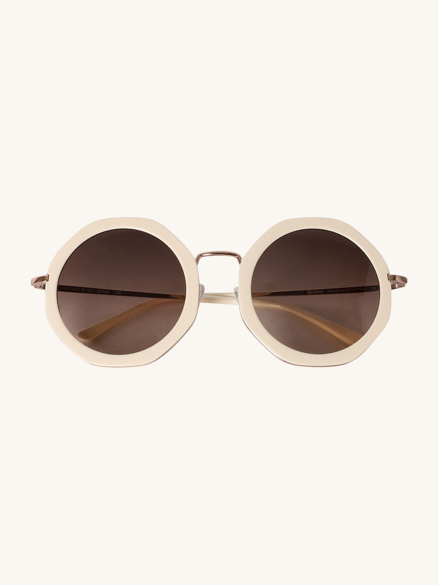 Antibes Sunglasses in Off White