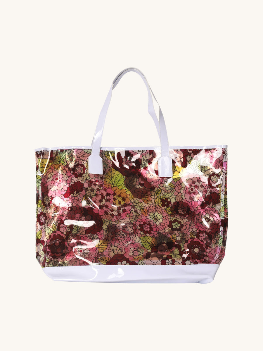 Floral Beach Tote in Pink