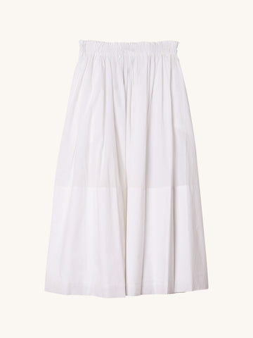 Midi Lola Skirt in White