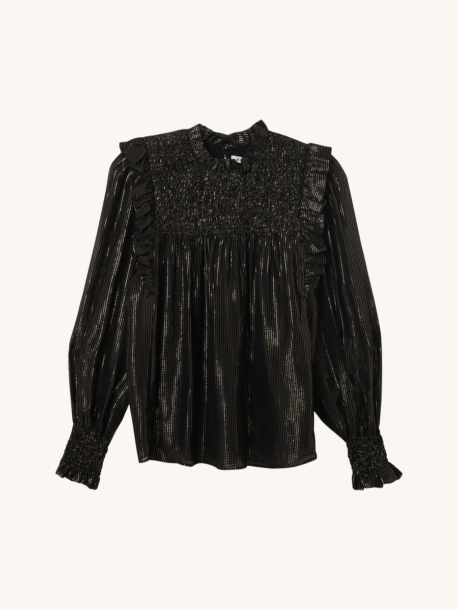 Chinesa Metallic Blouse