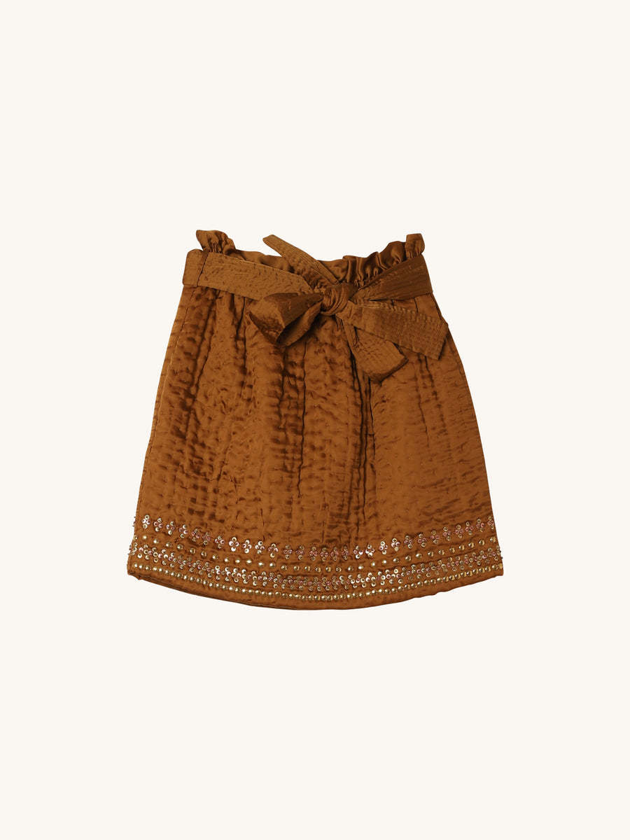 Shaia Skirt in Bronze