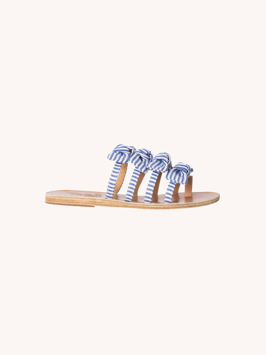 Hara Sandal in Blue & White Stripes